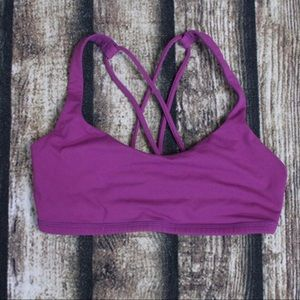 Lululemon Fuchsia Purple Strappy Sports Bra